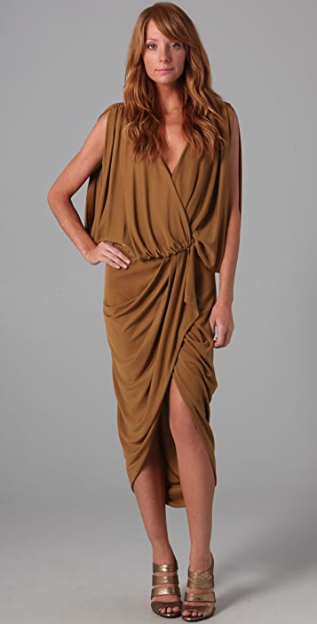 Haute Hippie Sleeveless Wrap Dress