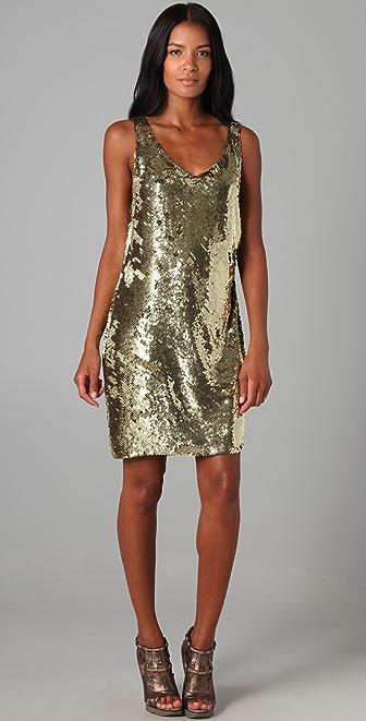 Haute Hippie Bias Sequin Mini Dress