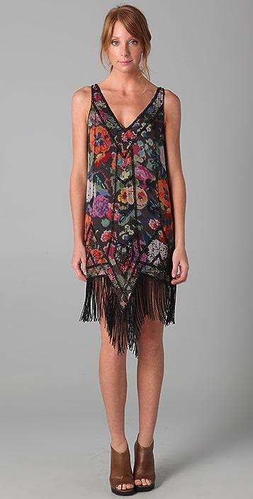 Haute Hippie Gypsy Rose Flapper Dress