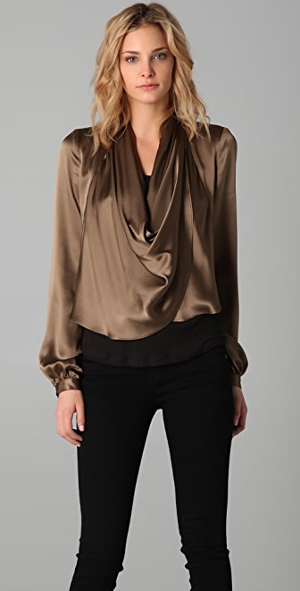 Haute Hippie Draped Silk Jacket
