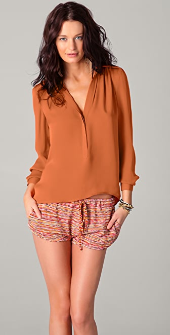 Haute Hippie Collared Blouse