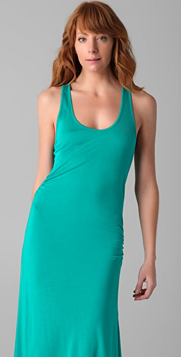 Haute Hippie Racer Back Dress with Ruching