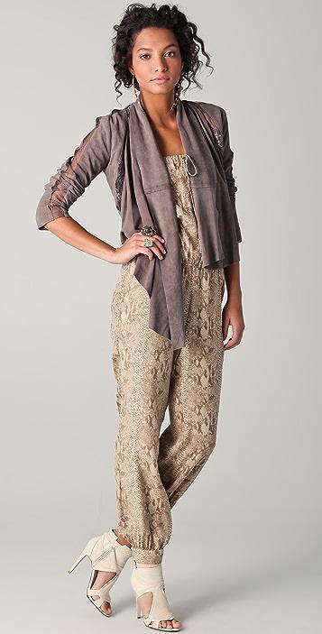 Haute Hippie Lace Suede Jacket