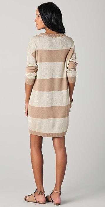 Haute Hippie Striped Sweater Dress
