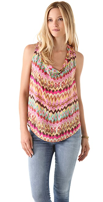 Haute Hippie Sleeveless Cowl Blouse