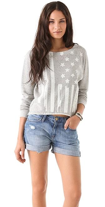 Haute Hippie Flag Sweatshirt