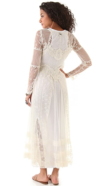 Haute Hippie Long Lace Dress