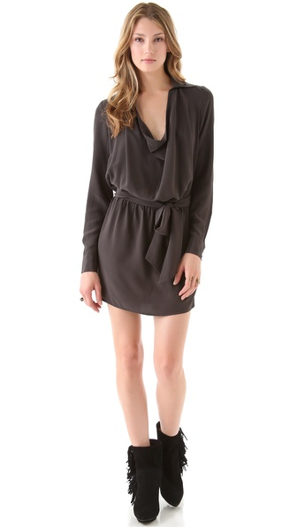 Haute Hippie Cowl Neck Dress with Belt