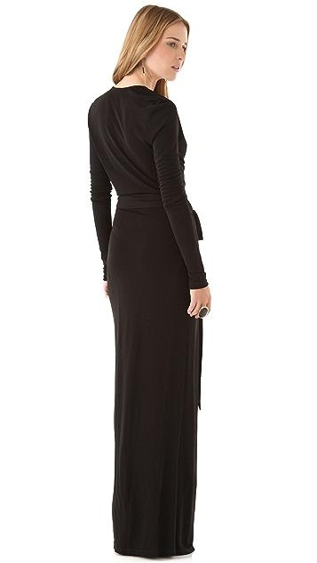 Haute Hippie Long Sleeve Maxi Dress with High Slit