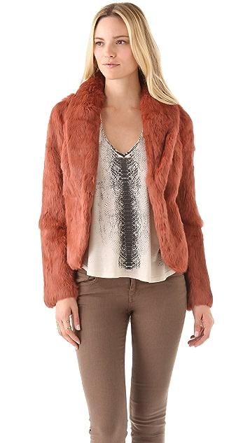 Haute Hippie Bunny Fur Jacket