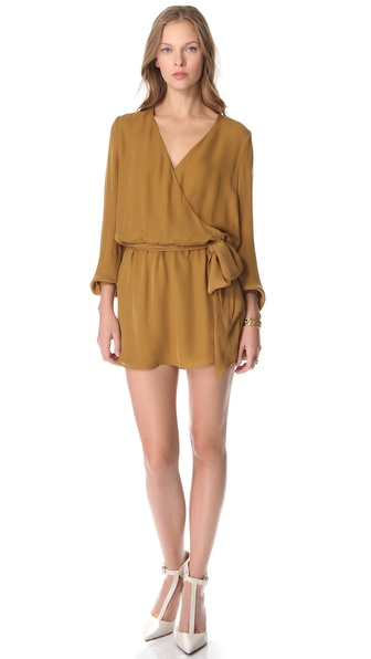 Haute Hippie Faux Wrap Dress