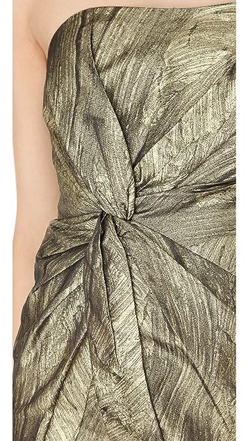 Haute Hippie Twist Front Strapless Dress