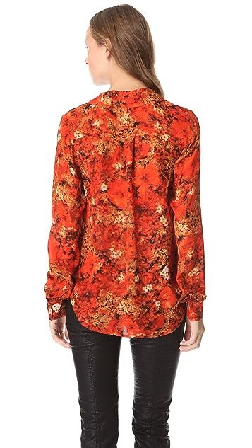 Haute Hippie Buttoned Print Blouse