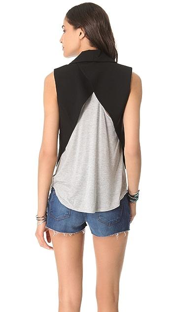 Haute Hippie Open Back Tux Vest
