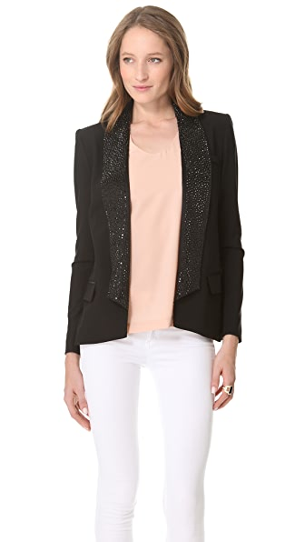 Haute Hippie Jacket with Embellished Lapels