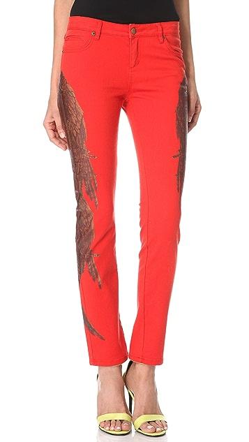 Haute Hippie Feather Print Jeans