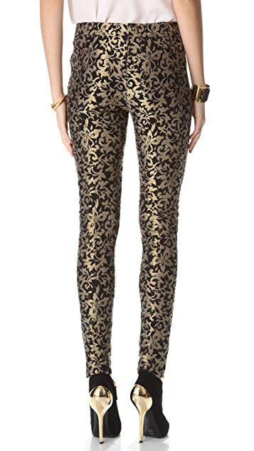 Haute Hippie Lace Metallic Leggings