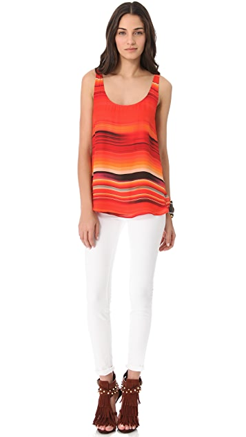 Haute Hippie Striped Silk Tank