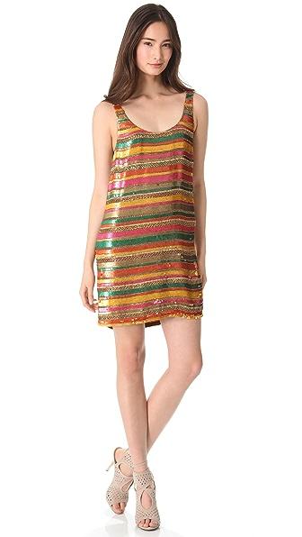 Haute Hippie Sequin Striped Tank Dress