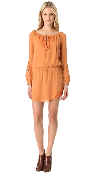 Haute Hippie Embroidered Lace Dress