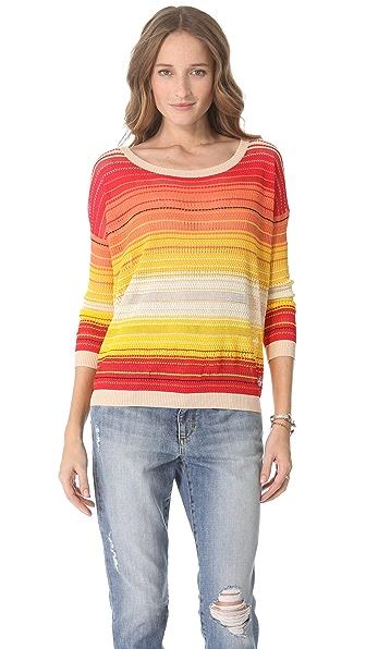 Haute Hippie Ombre Stripe Sweater