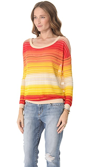 Haute Hippie Ombre Stripe Sweater
