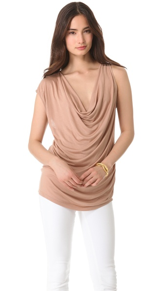 Haute Hippie Cowl Neck Jersey Top