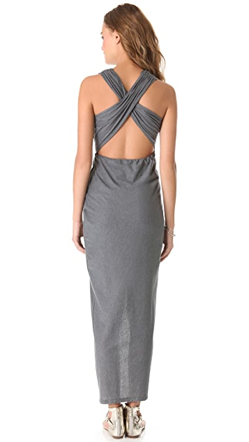 Haute Hippie Draped Jersey Gown