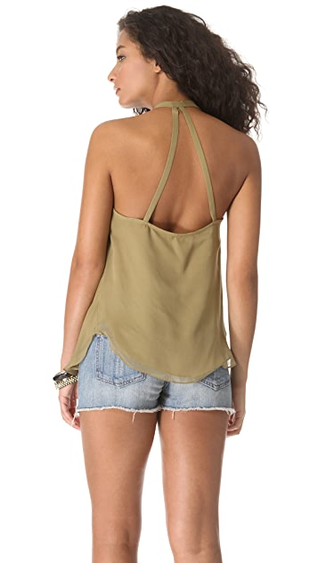 Haute Hippie Open Back Top