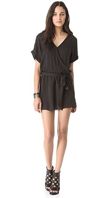 Haute Hippie Rolled Sleeve Mini Dress