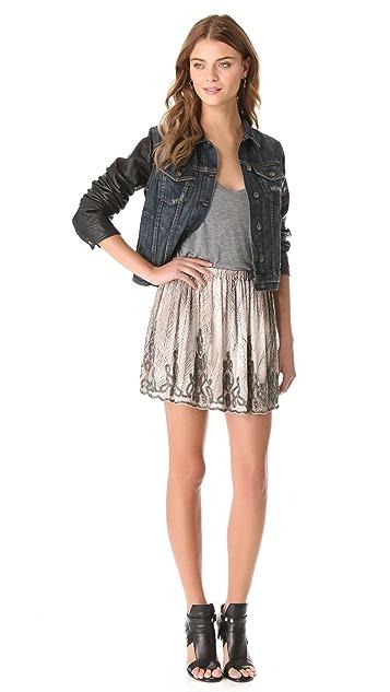Haute Hippie Embellished Mini Skirt