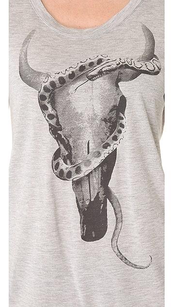 Haute Hippie Longhorn Snake Tee