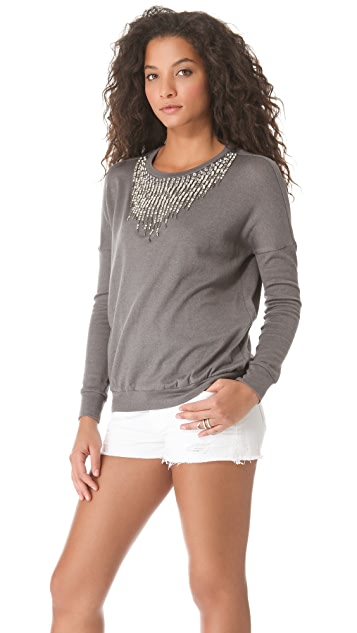 Haute Hippie Embellished Sweater