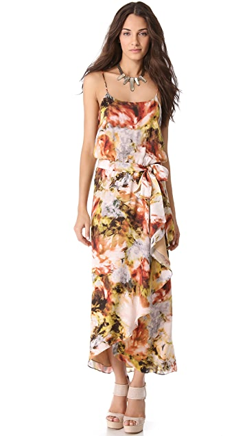 Haute Hippie Ruffle Front Camisole Gown