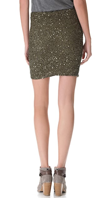 Haute Hippie Junk Sequin Pencil Skirt