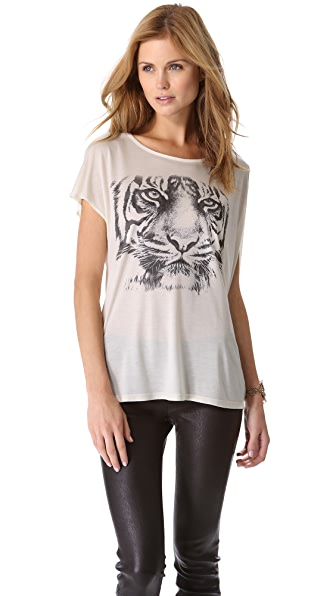 Haute Hippie White Tiger Tee