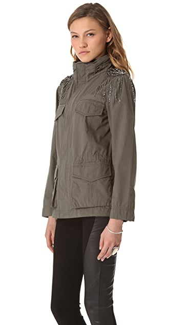Haute Hippie Embellished Military Anorak