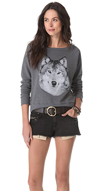 Haute Hippie Hungry Like a Wolf Sweatshirt