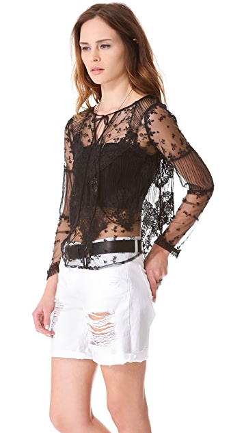 Haute Hippie Lace Topper Jacket