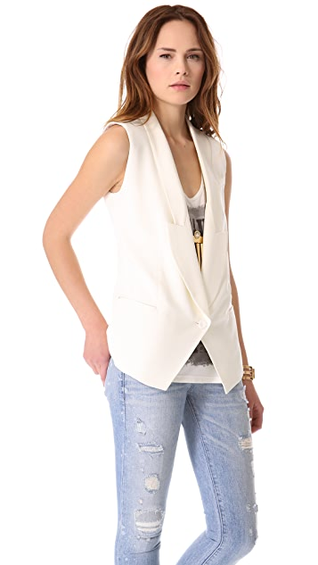 Haute Hippie Long Vest