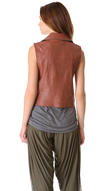 Haute Hippie Leather Moto Vest