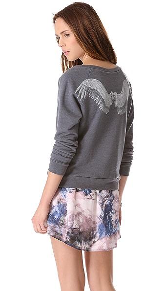Haute Hippie Angel Wings Sweatshirt