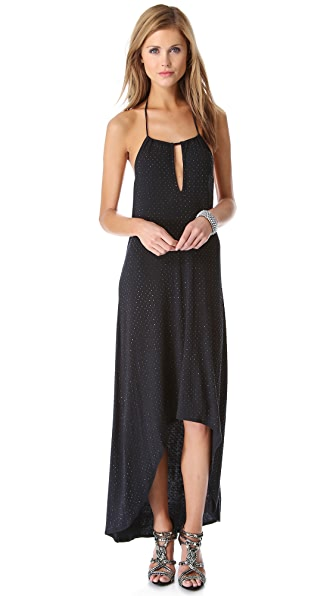 Haute Hippie Embellished Halter Dress