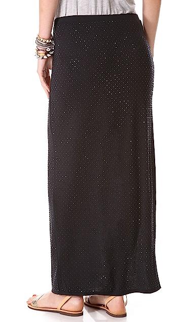 Haute Hippie High Slit Maxi Skirt