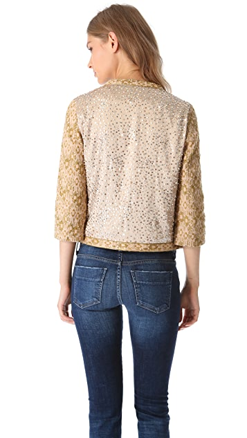 Haute Hippie Sequin Threadwork Jacket