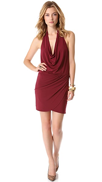 Haute Hippie Asymmetrical Draped Dress