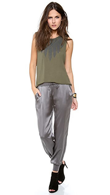 Haute Hippie Charmeuse Sweatpants