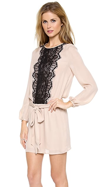 Haute Hippie Lace Pleat Dress