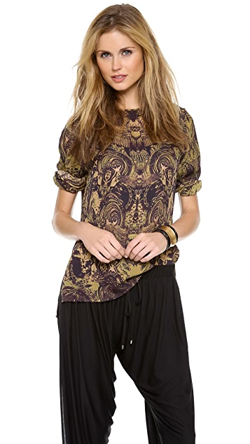 Haute Hippie Button Back Blouse