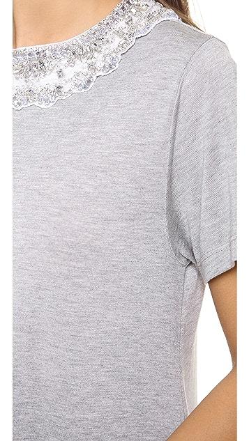 Haute Hippie Beaded T-Shirt